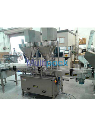 Double Head Auger Type Powder Filling Machine