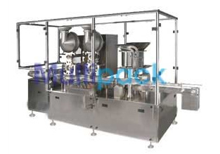 Fully Loaded Automatic Dry Injectable Powder Filling And Pick And Place Type Rubber Stoppering Machine
