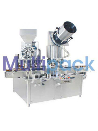 Automatic Monoblock Dry Syrup Powder Filling Cap Sealing Machine