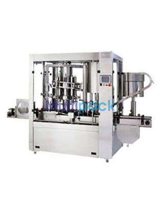 Rotary Monoblock 12×8 Dry Syrup Powder Filling & Capping Machine