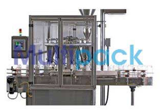 Automatic Rotary Monoblock 16×8 Dry Syrup Powder Filling & Capping Machine