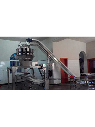 Multihead Weigher Jar Filling And Packing Production Line