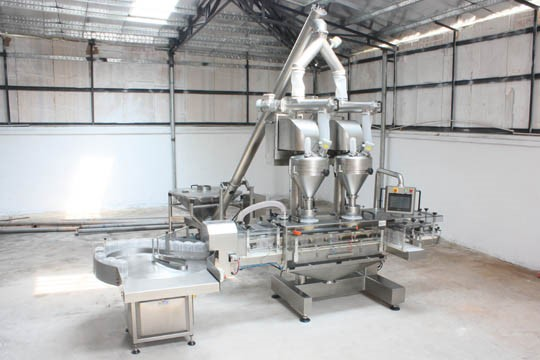 Auger filler and powder filling line Protein / Talc / food, Pharma , Spice, Floor , chemical, Nutraceutical / sport industry