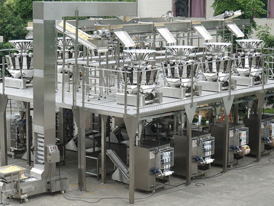 VFFS Machine with Multi Head Weigher / Bagging / Bagger filler , Vertical form fill seal machine