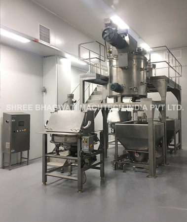 granule multihead weigher pouch filling with bucket elevator